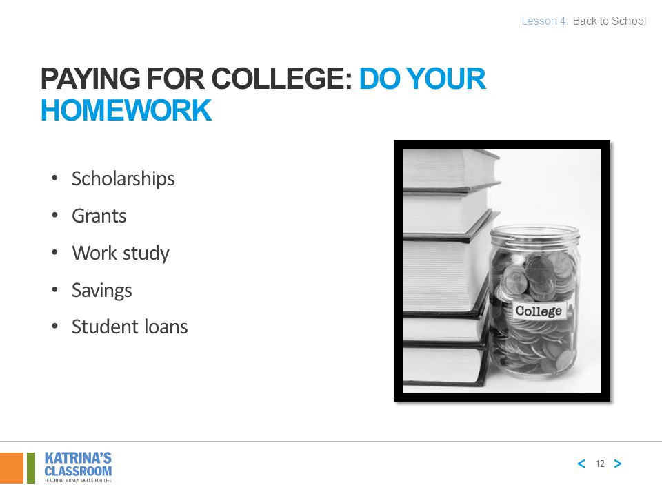 Paying for College: Do Your Homework