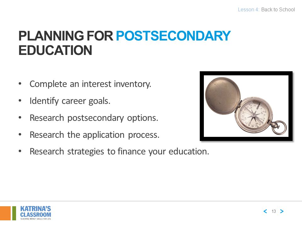 Planning for Postsecondary Education