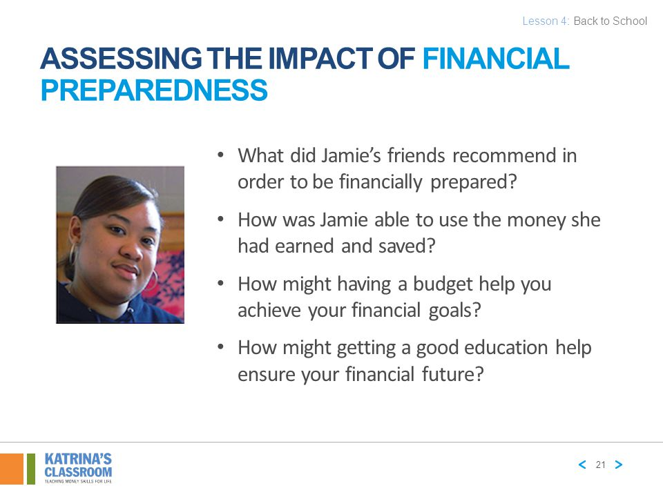 ASSESSING THE IMPACT OF FINANCIAL PREPAREDNESS