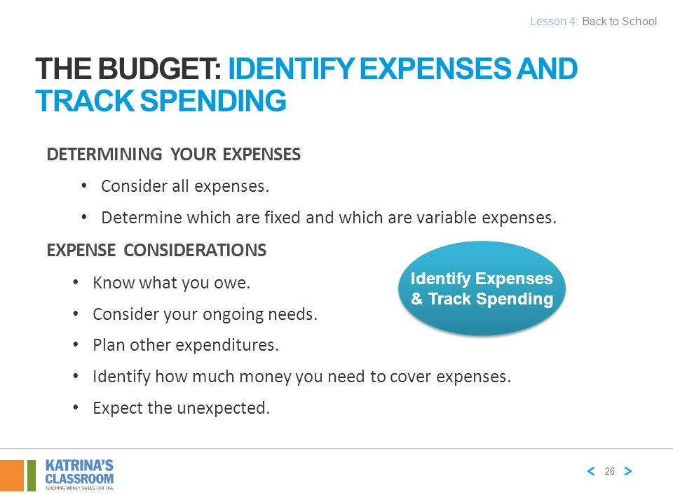 The Budget: Identify Expenses And Track Spending