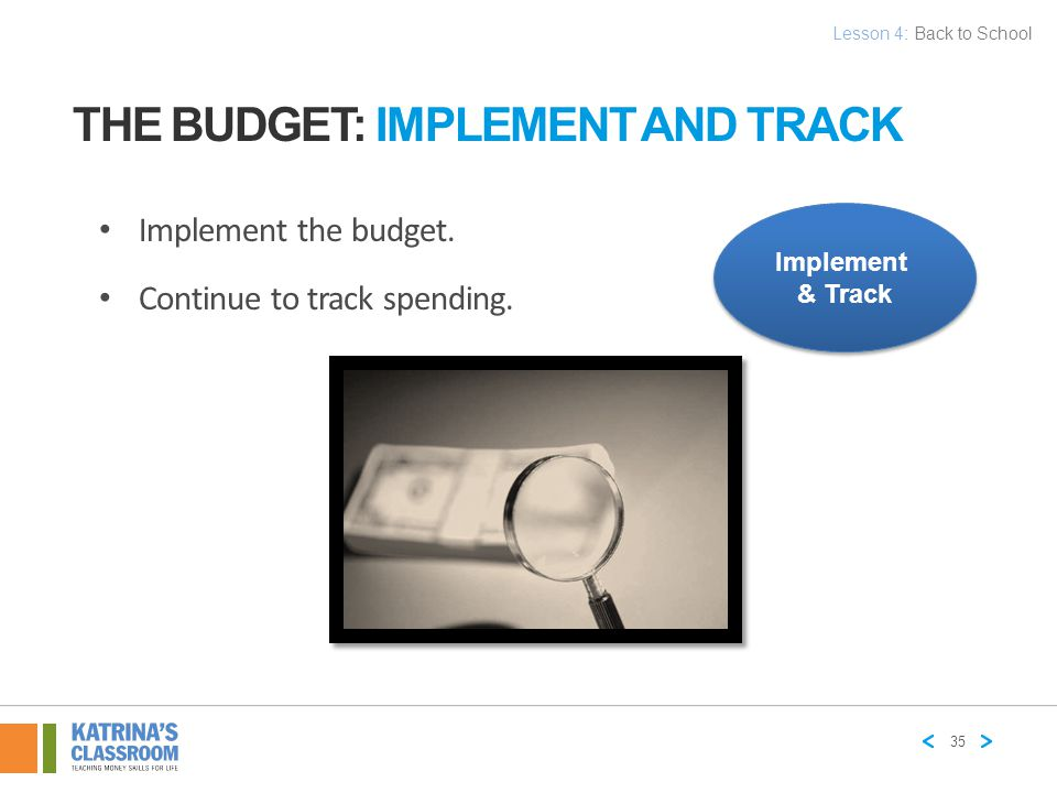 The Budget: Implement and Track