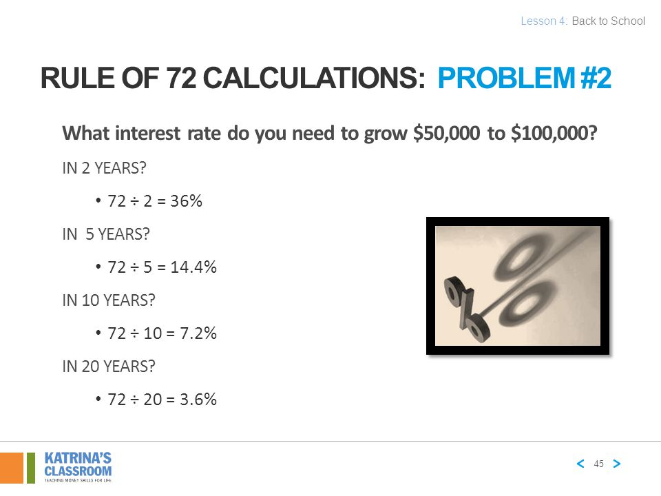 Rule of 72 Calculations: Problem #2