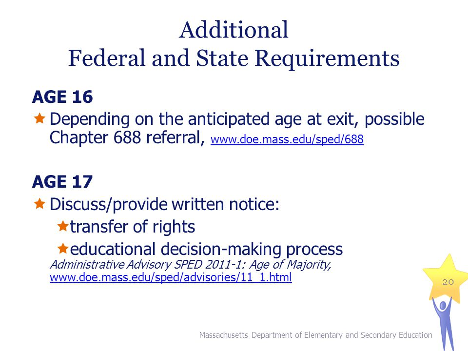 Additional Federal and State Requirements