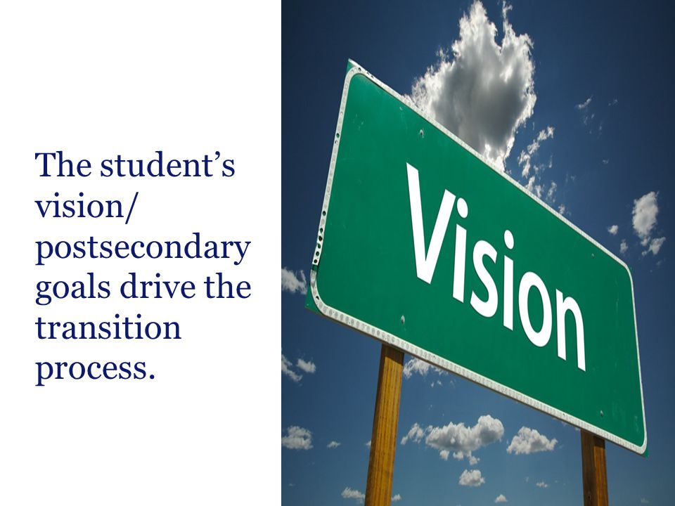 postsecondary goals drive the transition process.