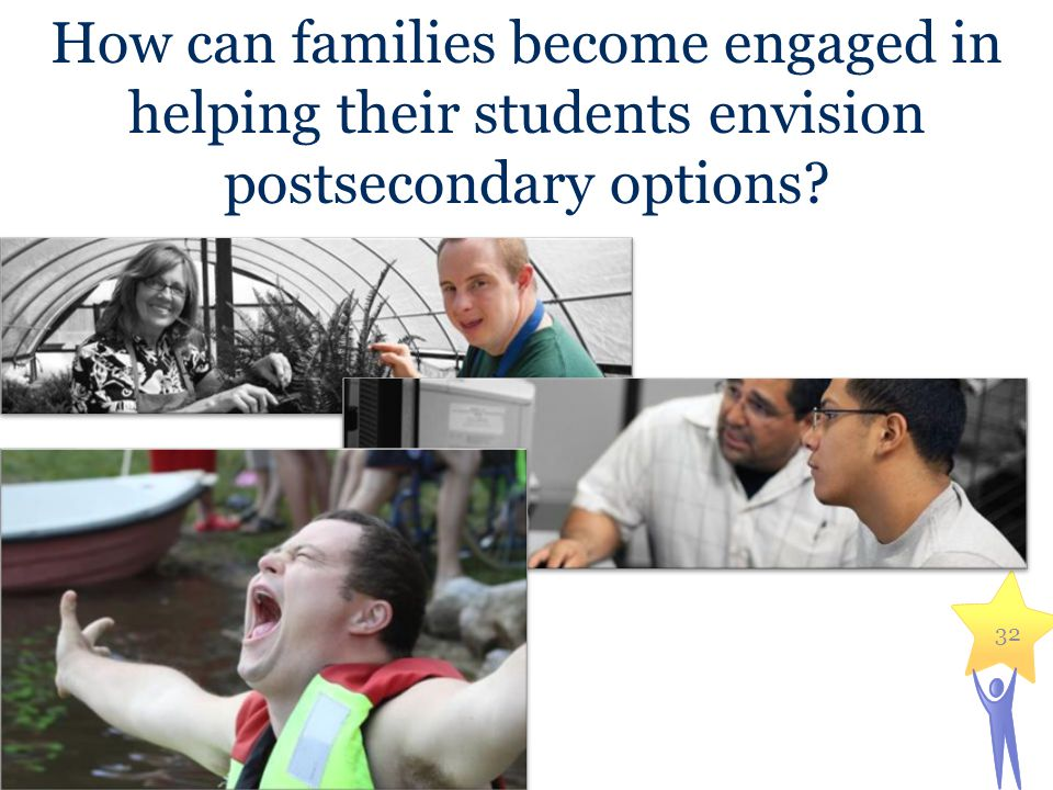 How can families become engaged in helping their students envision