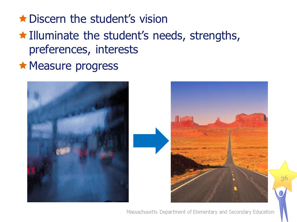 Discern the student's vision
