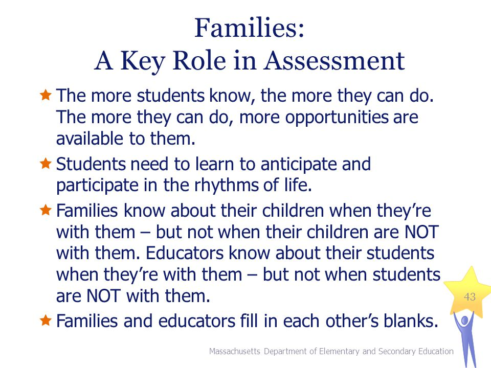 Families: A Key Role in Assessment