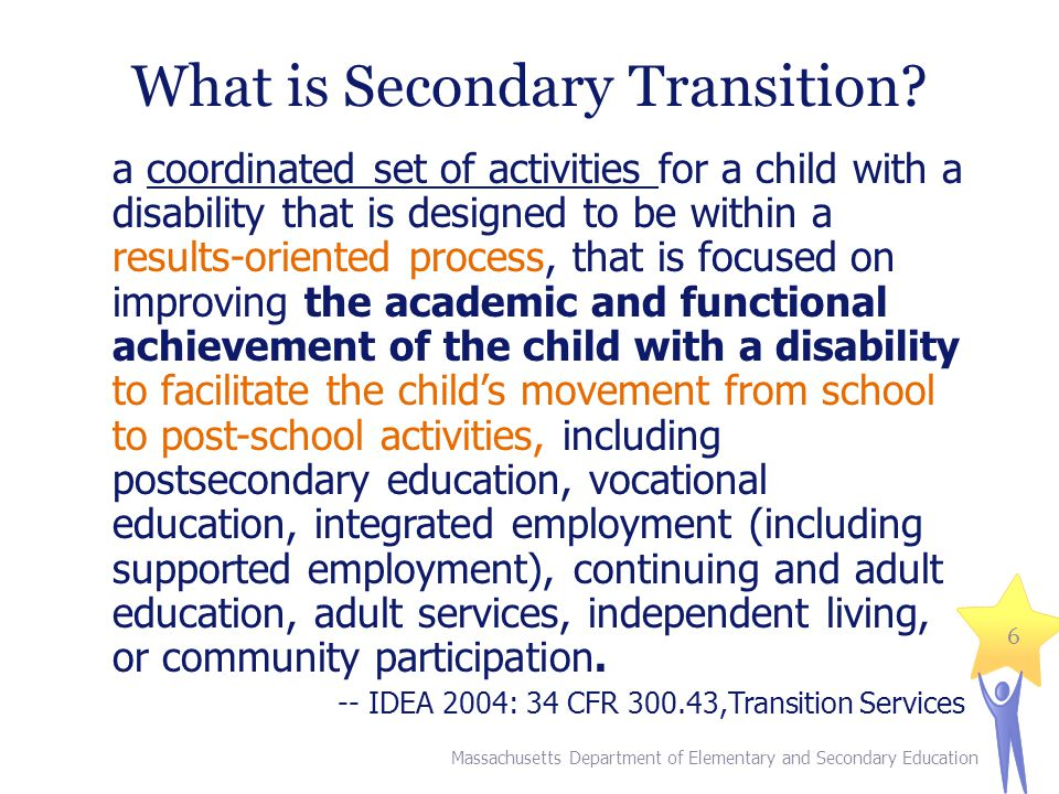 What is Secondary Transition