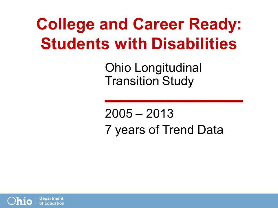College and Career Ready: Students with Disabilities