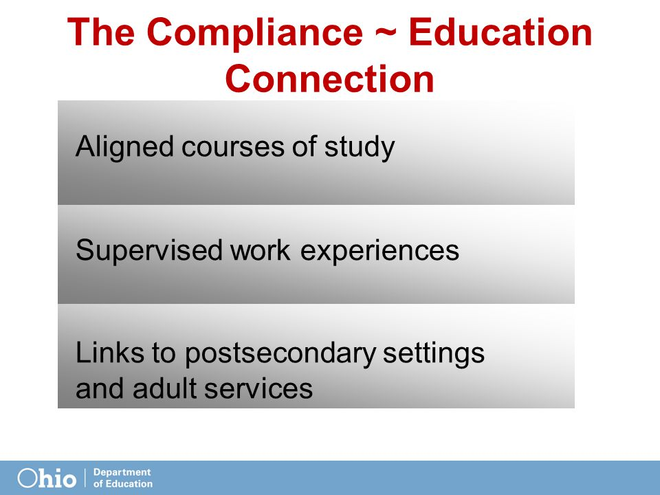 The Compliance ~ Education Connection