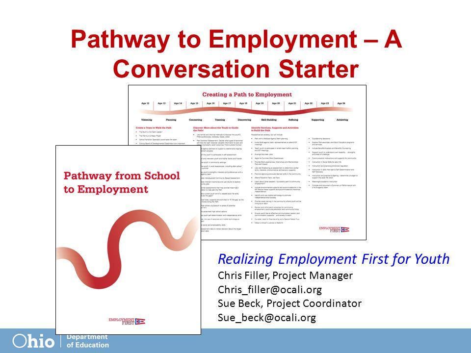 Pathway to Employment – A Conversation Starter
