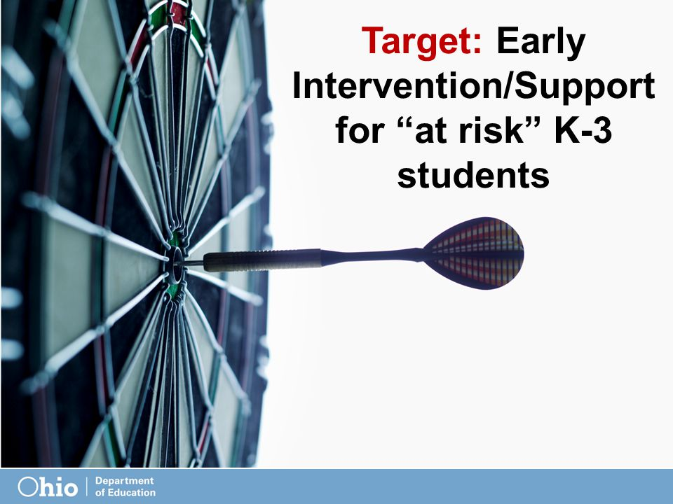 Target: Early Intervention/Support for at risk K-3 students