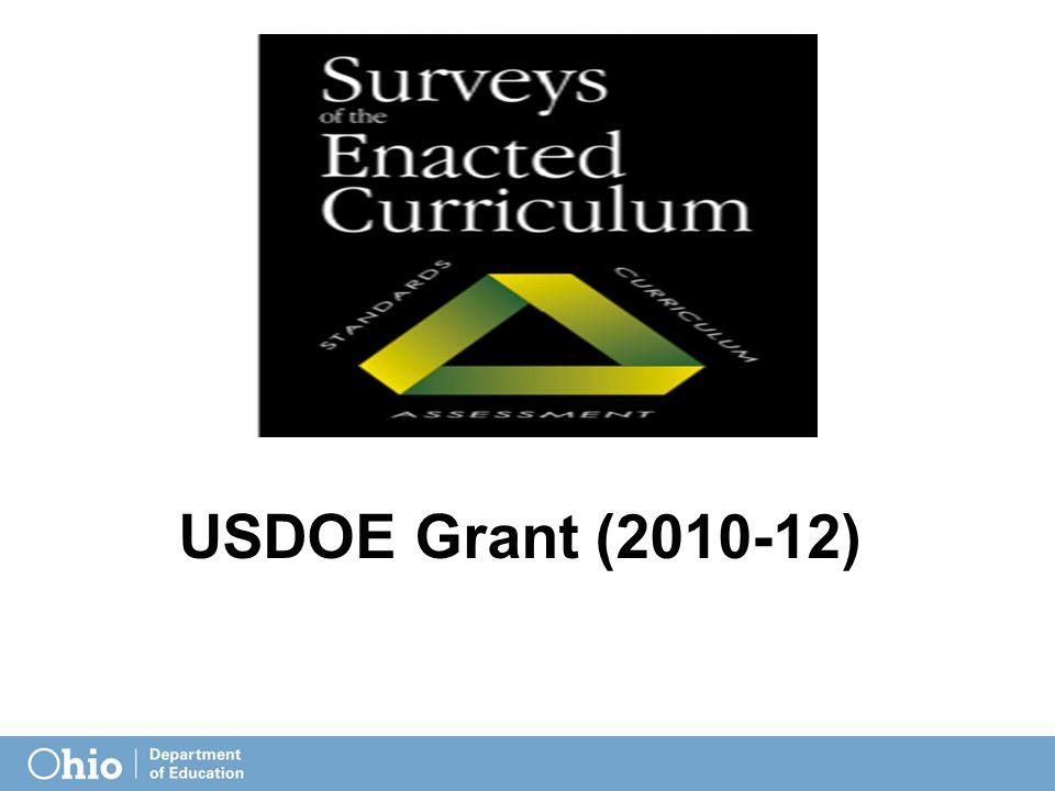 USDOE Grant (2010-12)
