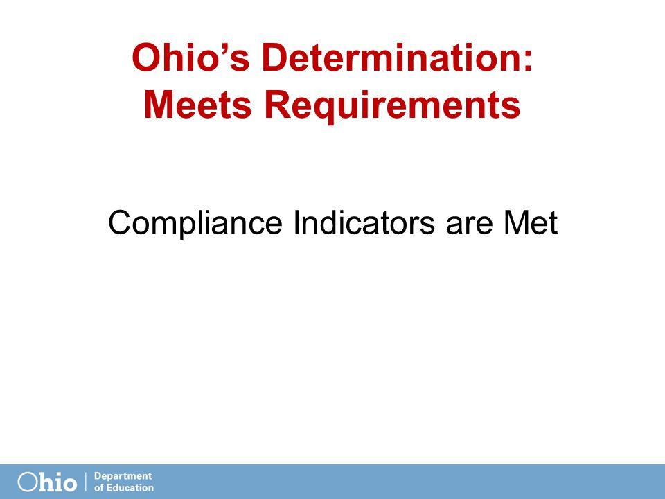 Ohio's Determination: Meets Requirements