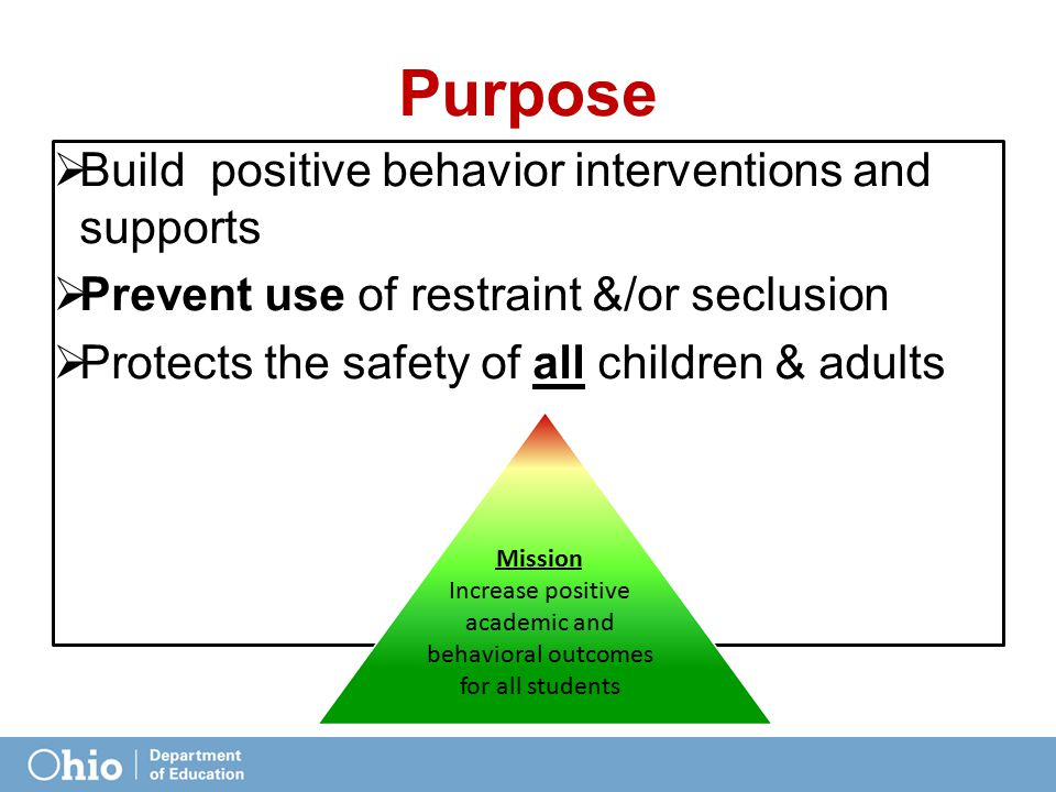 Increase positive academic and behavioral outcomes for all students