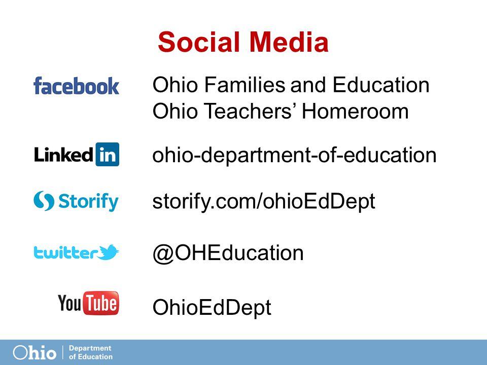 Social Media Ohio Families and Education Ohio Teachers' Homeroom