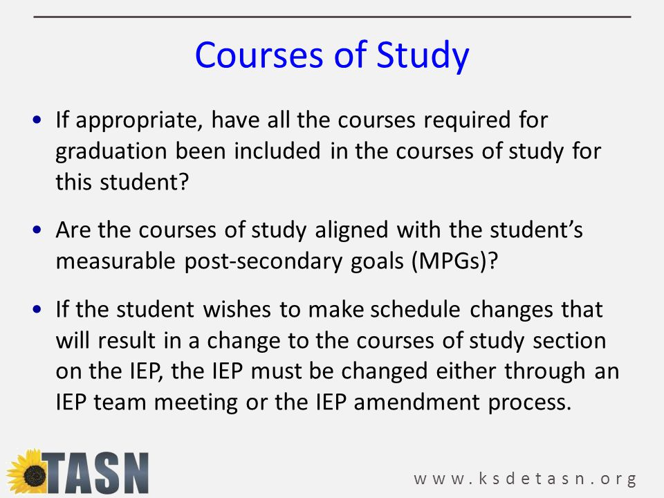 Courses of Study If appropriate, have all the courses required for graduation been included in the courses of study for this student