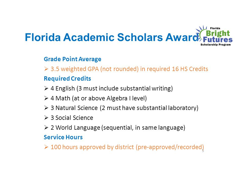 Florida Academic Scholars Award