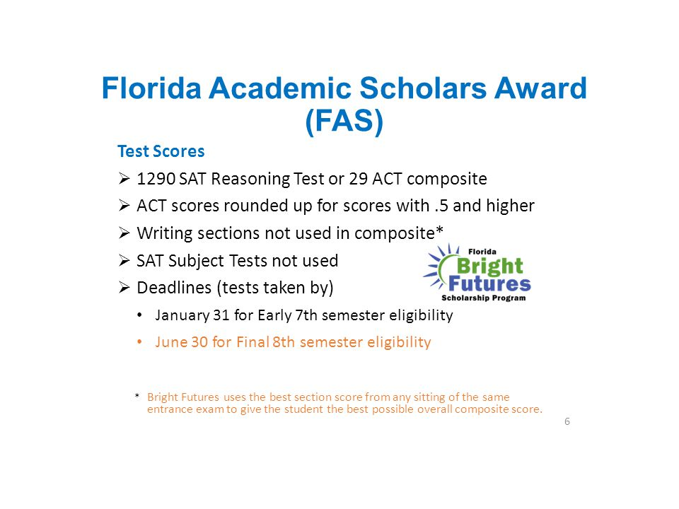 Florida Academic Scholars Award (FAS)
