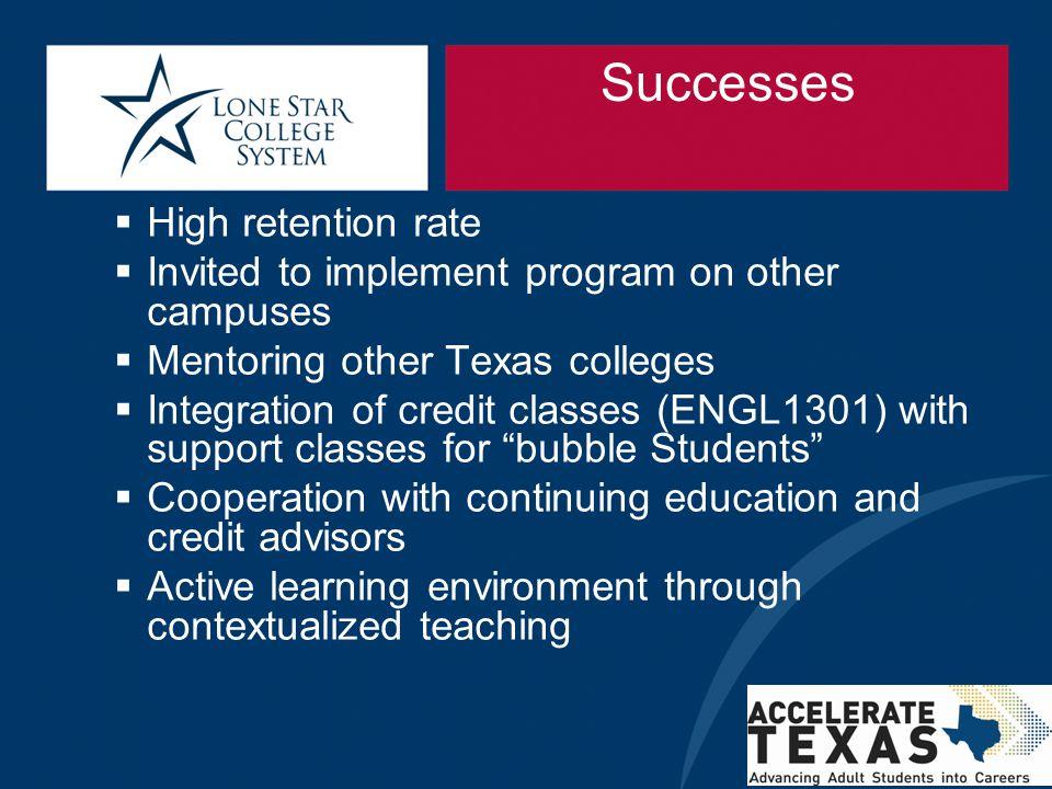 Successes High retention rate