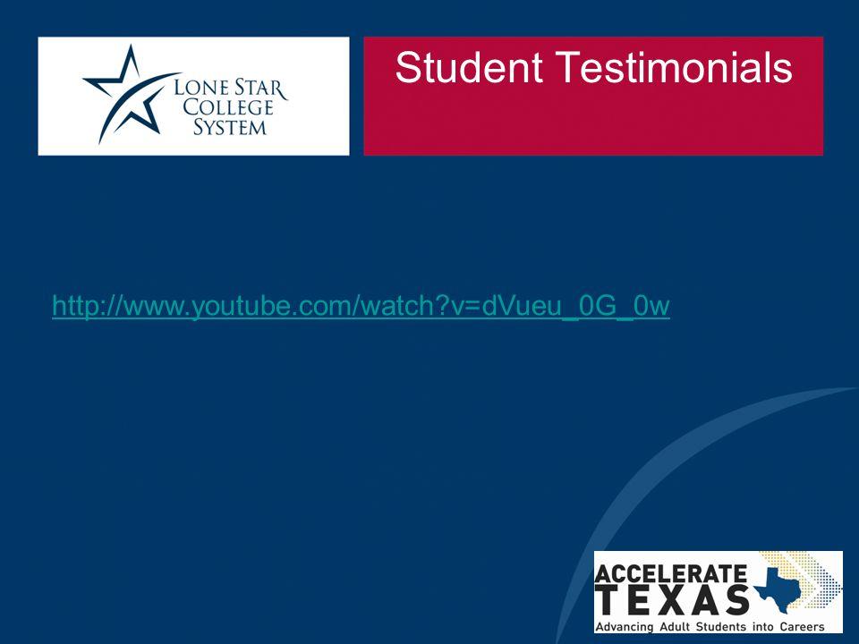 Student Testimonials http://www.youtube.com/watch v=dVueu_0G_0w