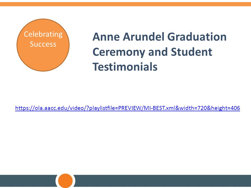 Anne Arundel Graduation Ceremony and Student Testimonials