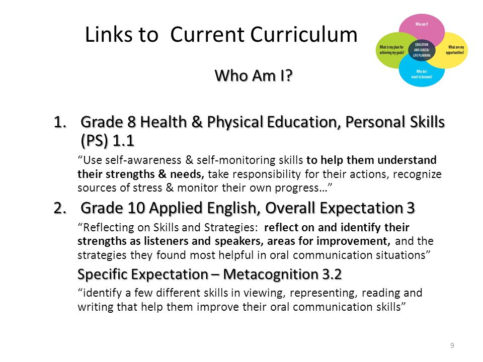 Links to Current Curriculum