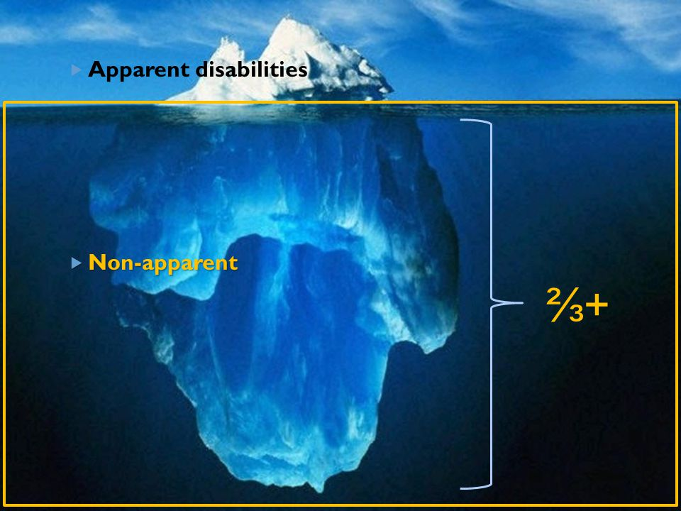 Apparent disabilities