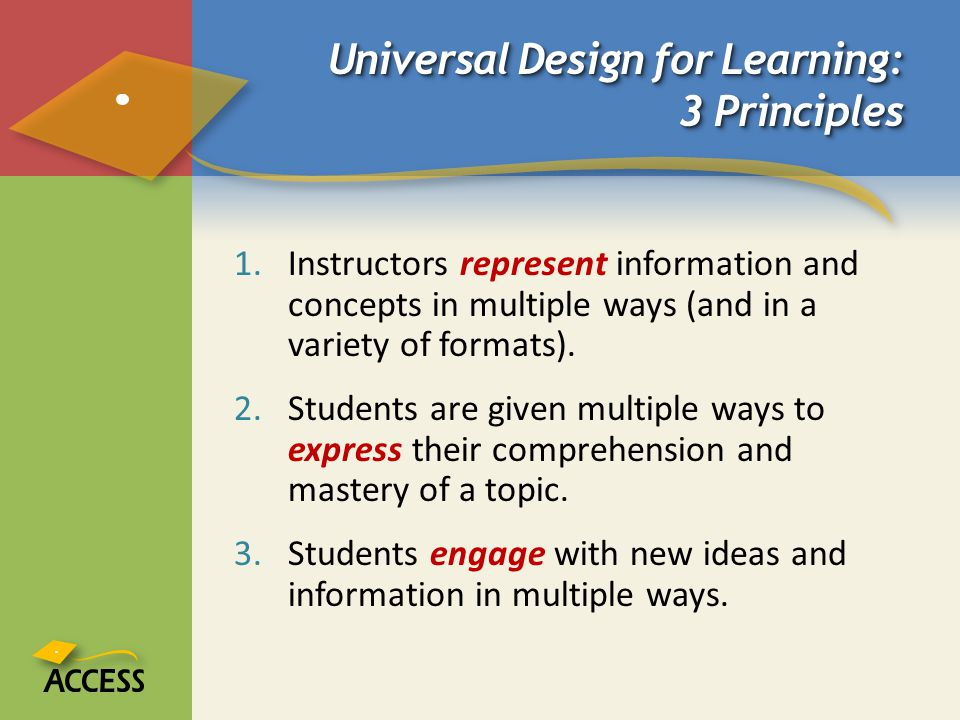 Universal Design for Learning: 3 Principles