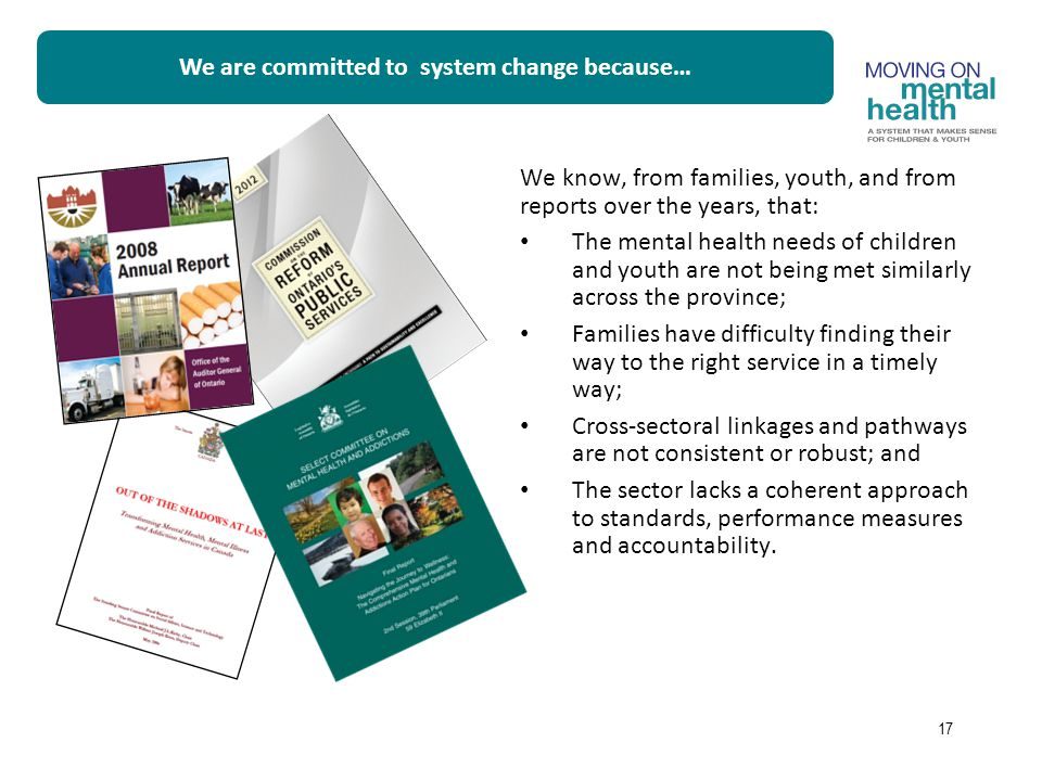 We are committed to system change because…