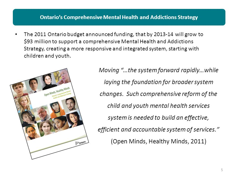 Ontario's Comprehensive Mental Health and Addictions Strategy