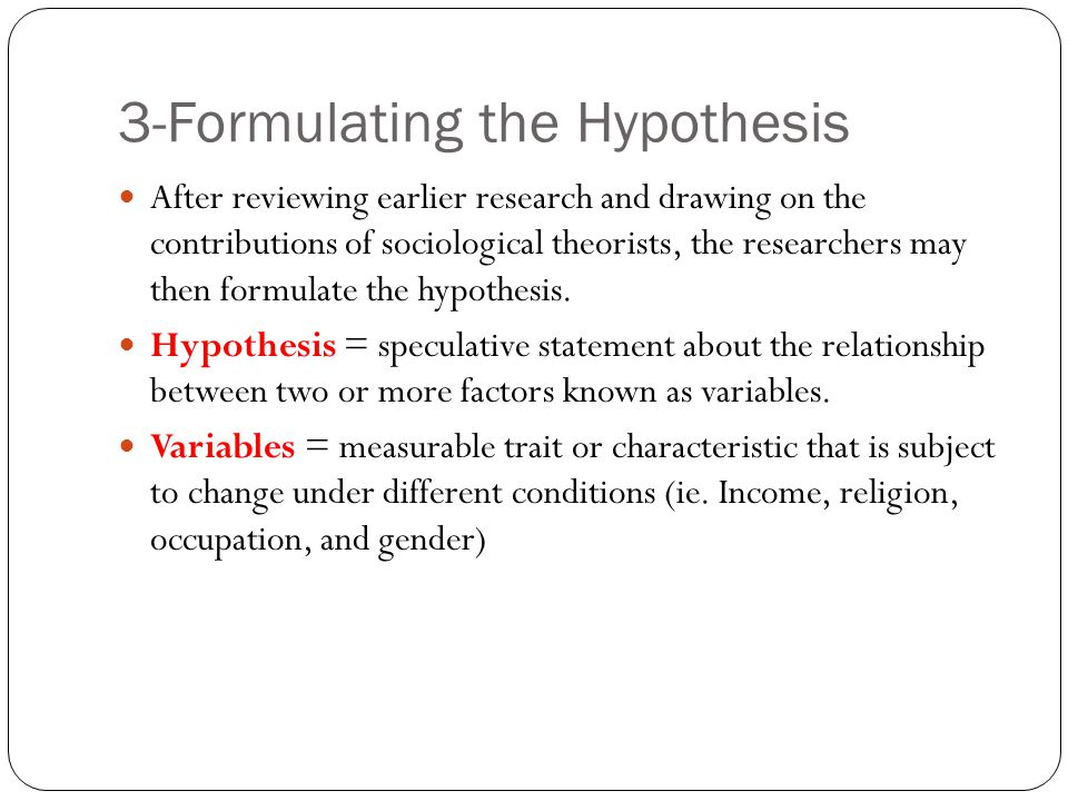3-Formulating the Hypothesis