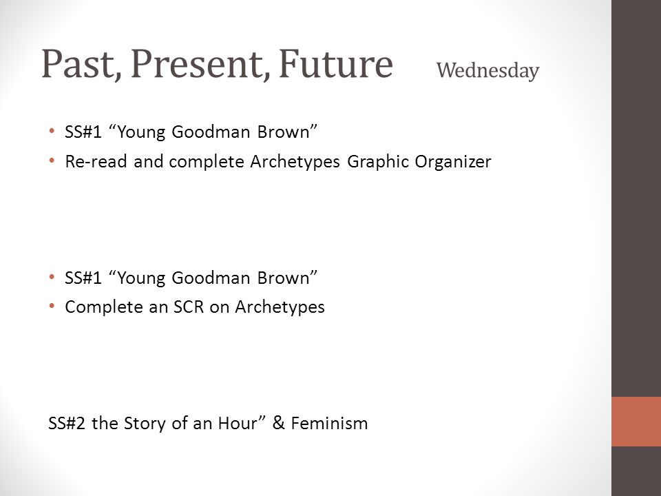 Past, Present, Future Wednesday