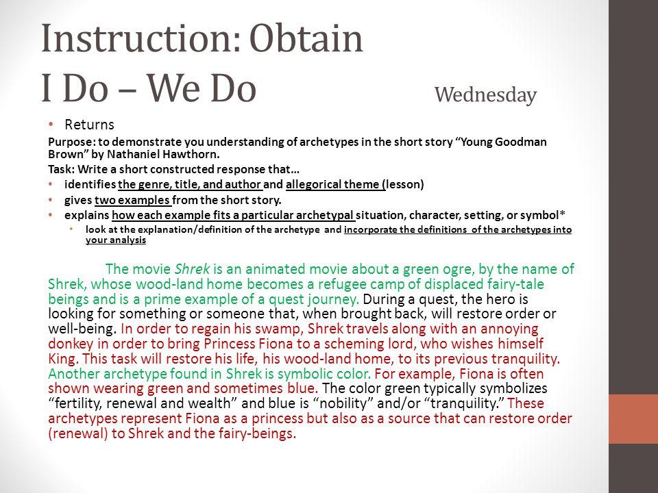 Instruction: Obtain I Do – We Do Wednesday