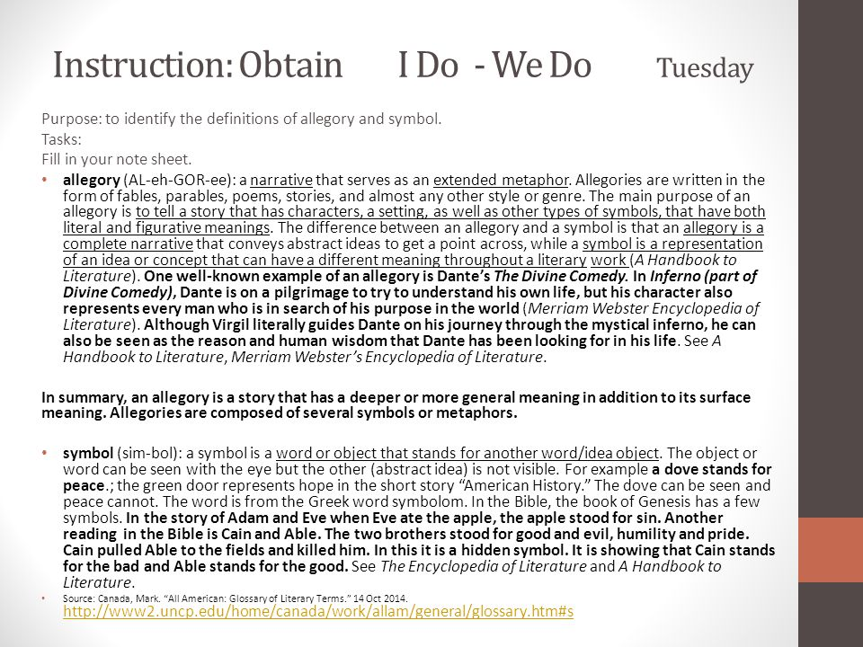 Instruction: Obtain I Do - We Do Tuesday