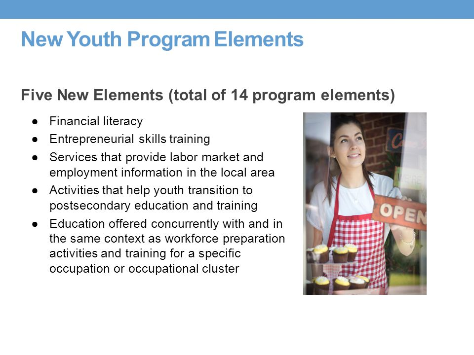 New Youth Program Elements