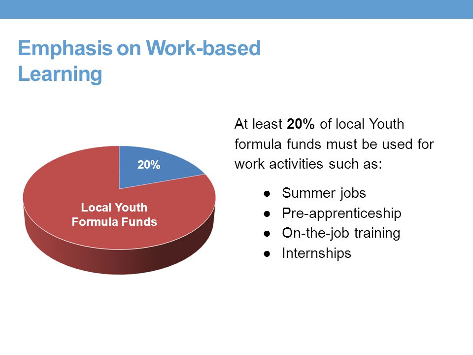 Emphasis on Work-based Learning