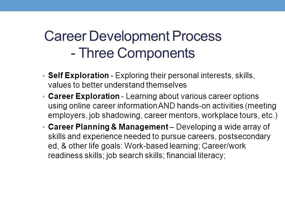Career Development Process - Three Components