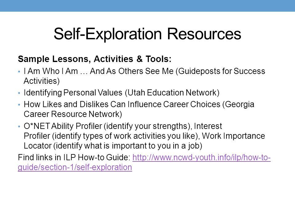 Self-Exploration Resources