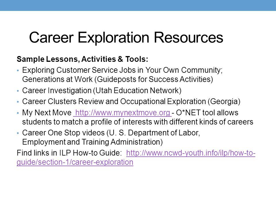 Career Exploration Resources