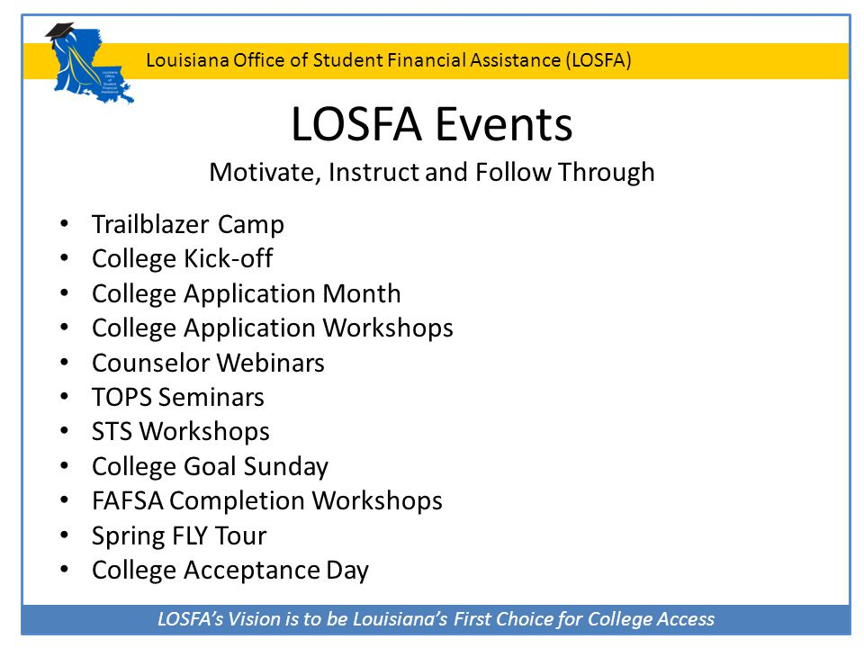 LOSFA Events Motivate, Instruct and Follow Through