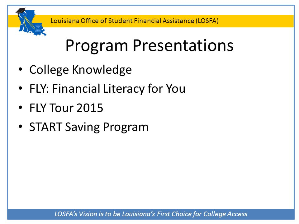 Program Presentations
