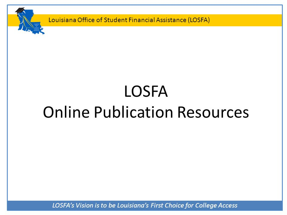 LOSFA Online Publication Resources
