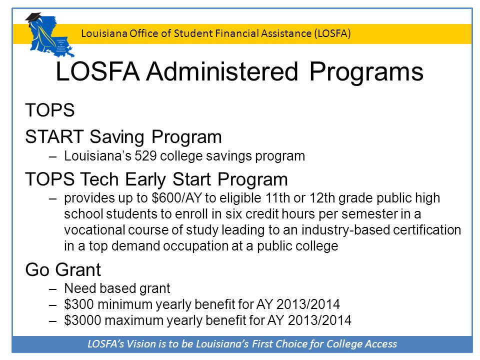 LOSFA Administered Programs