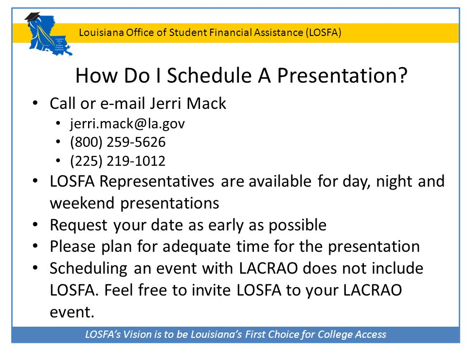 How Do I Schedule A Presentation