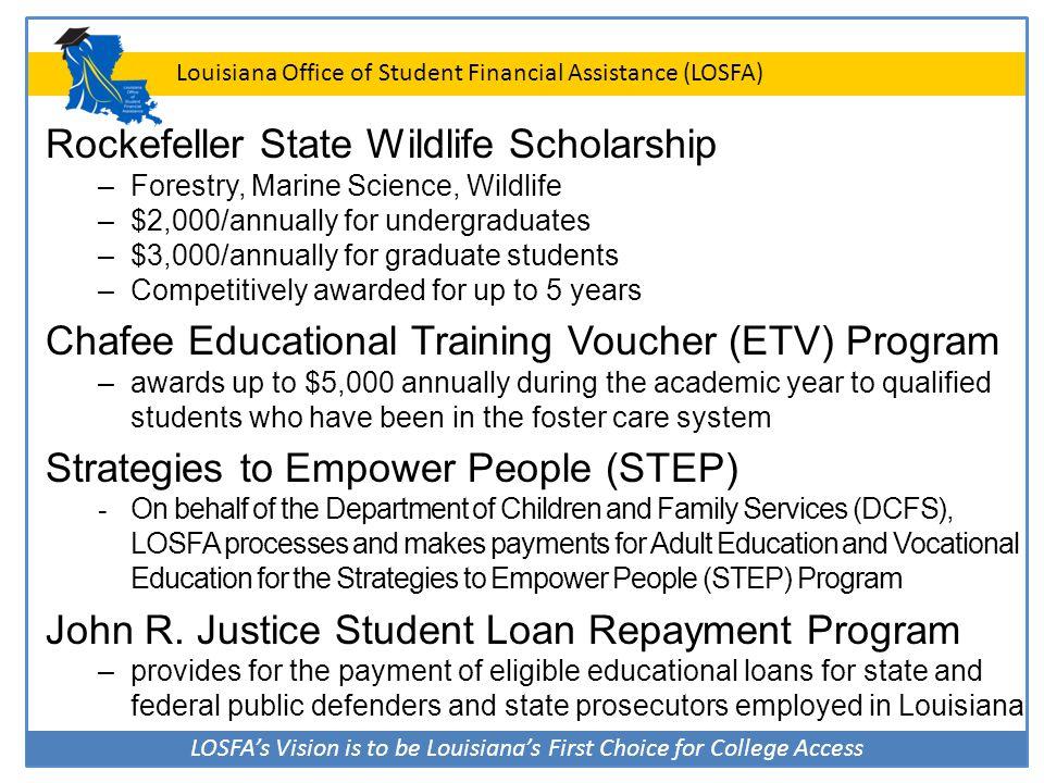 Rockefeller State Wildlife Scholarship