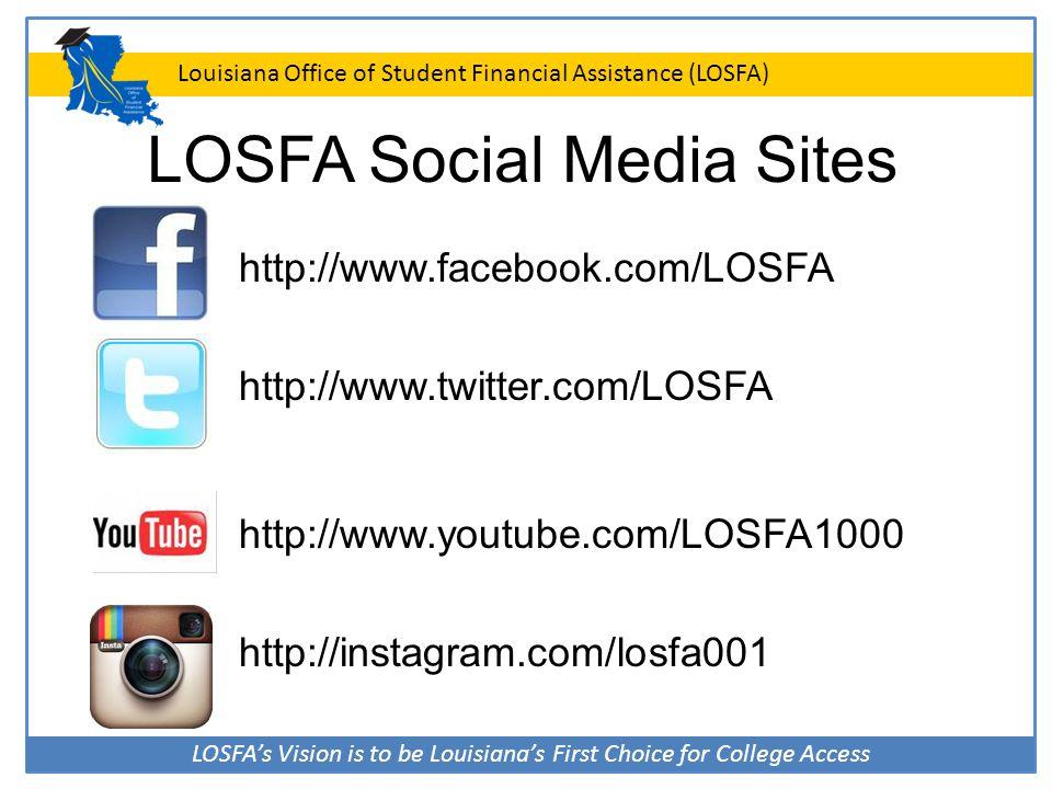 LOSFA Social Media Sites