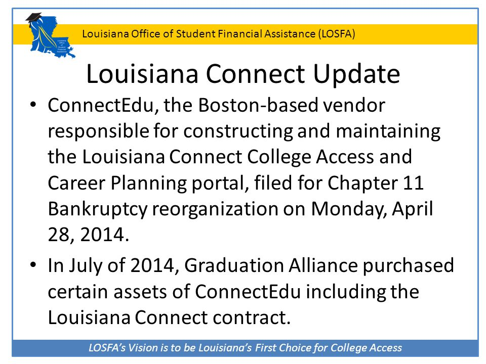 Louisiana Connect Update