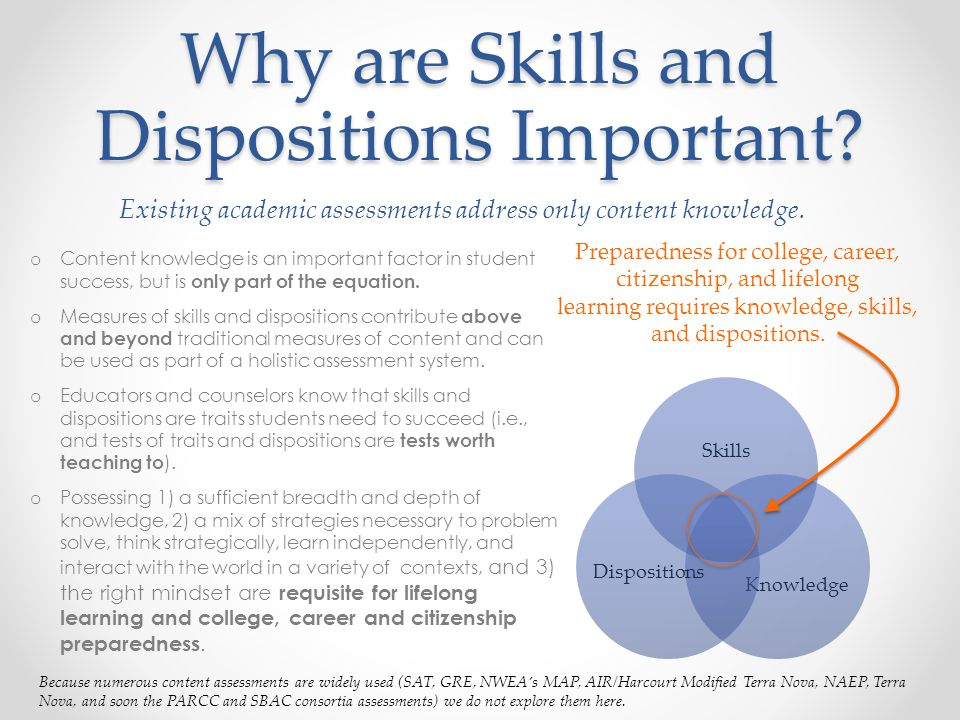 Why are Skills and Dispositions Important