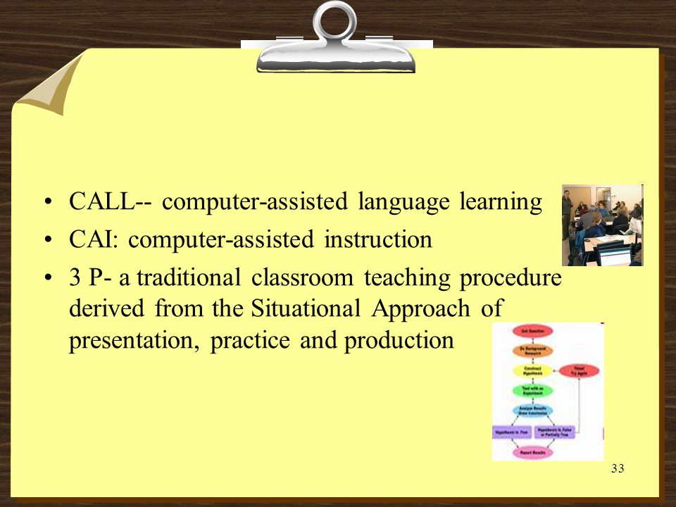 CALL-- computer-assisted language learning